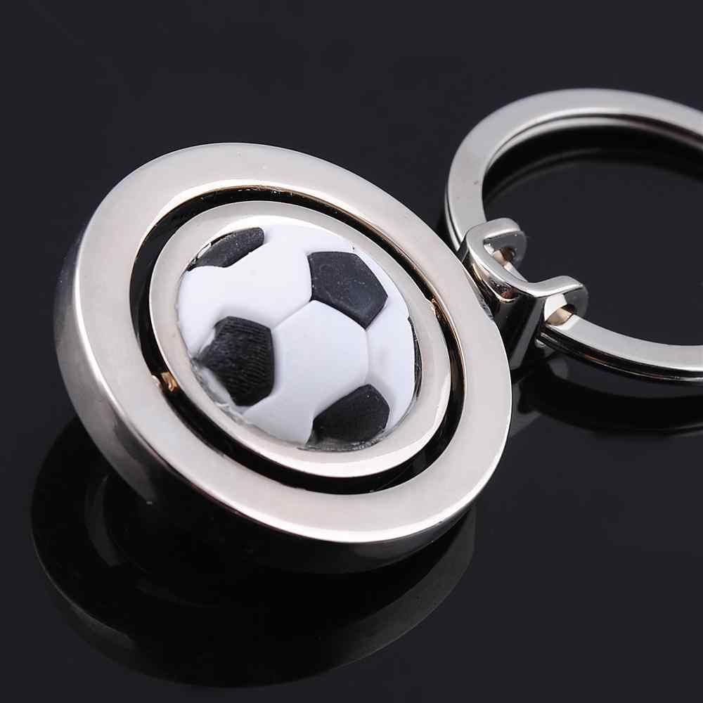 Новый вращающийся футбольный брелок, модный спортивный футбольный мяч, брелок для ключей, сумка для мальчика, подвеска, детали, Заводская оптовая цена