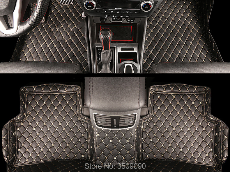 Car Interior Floor Mat Pad Cover Foot Cushion Protective Case For Hyundai Tucson TL 2015 2019 3TH LHD-in Interior Mouldings from Automobiles & Motorcycles    3