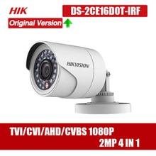 цены Hikvision DS-2CE16D0T-IRF CVBS/AHD/TVI/CVI 2MP HD1080P IR Bullet Camera 20m IR Distance IP66 weatherproof Turbo HD Camera