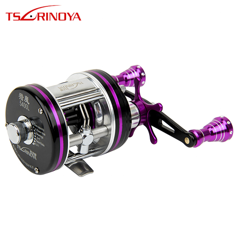 TSURINOYA hunting magic Full Metal Drum Reels Left Hand Bait Casting Fishing Reels 6+1BB Speed ratio 5.3:1 Drum Reel chainsaw module ignition coil wire kit for husqvarna 36 41 136 137 141 142 chainsaw 530039239