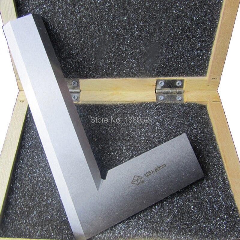 1 шт. из нержавеющей стали 125x80 мм с лезвием под углом 90 градусов, квадратная линейка, l-образная линейка, 90 градусов, измерительный инструмент