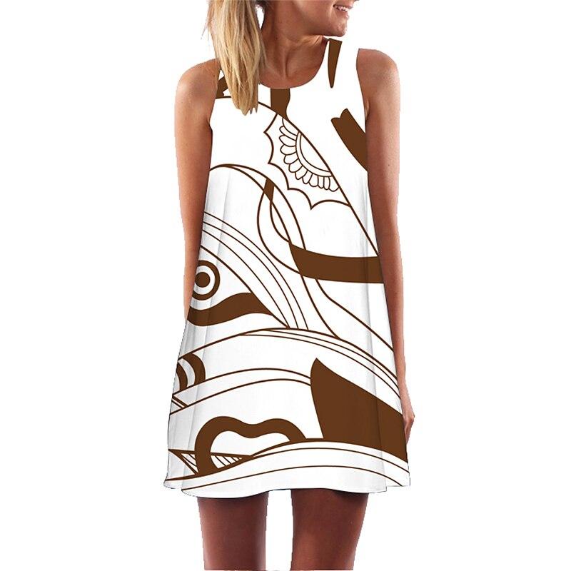 Yusano Women Nightgown Sleepwear Lingerie Nightshirt Sleeveless Night Dress Plus Size 3D Print Nighty Femme Sleepshirt 14 Color 5