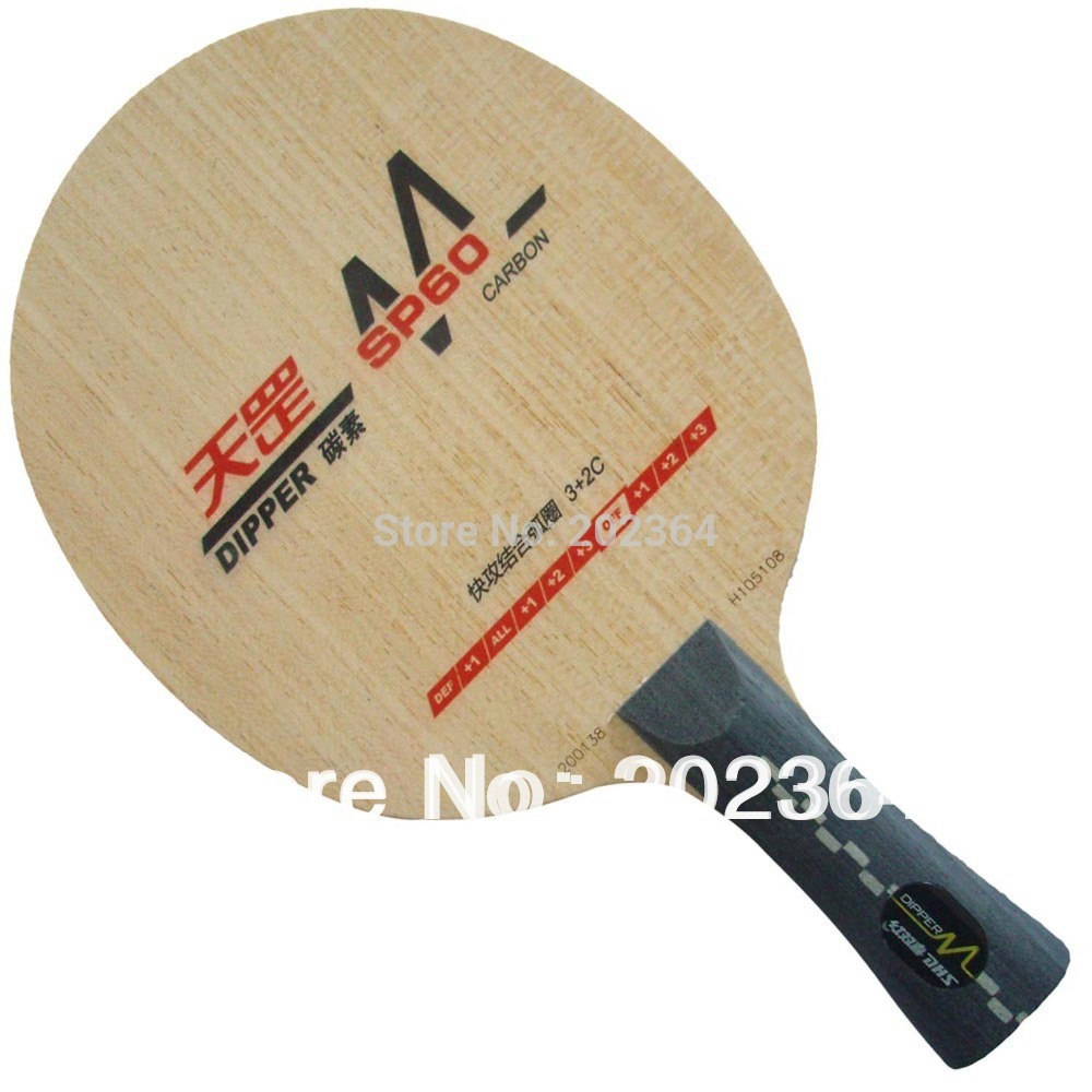 DHS Dipper SP60 (SP 60, SP-60, DM.SP60) Carbon (Attack+Loop) OFF++ Table Tennis Blade for PingPong Racket dhs dipper sp02 sp 02 sp 02 inner carbon all table tennis blade fl for pingpong racket