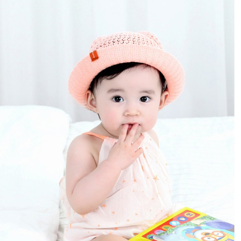 0aefa247c06 Baby Hats Fashion Ears Straw cute Hats For Girls Bucket Hat Boys Cap  Children Sun Summer Cap Kids Solid Beach Caps-in Hats   Caps from Mother    Kids on ...