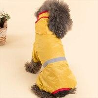 Köpekler ceket Taktik sonbahar ve kış kapüşonlu panço evcil köpek bacaklar PU yansıtıcı yağmurluk giysileri