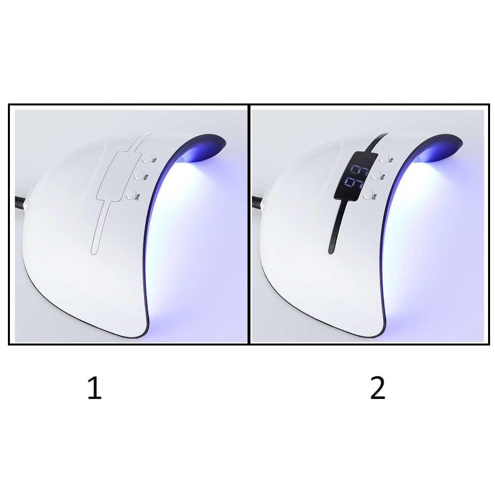 โคมไฟเล็บ 36 W เครื่องเป่าเล็บ led UV โคมไฟ LED UV Phototherapy เครื่องเจลเล็บแห้ง curing 30 s 60 s 99 s Timer