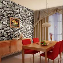 Vintage Faux Stone Pattern Modern Design Wallpaper Roll/3d Creative Stone brick Wall Paper Background Living Room Shop Wall