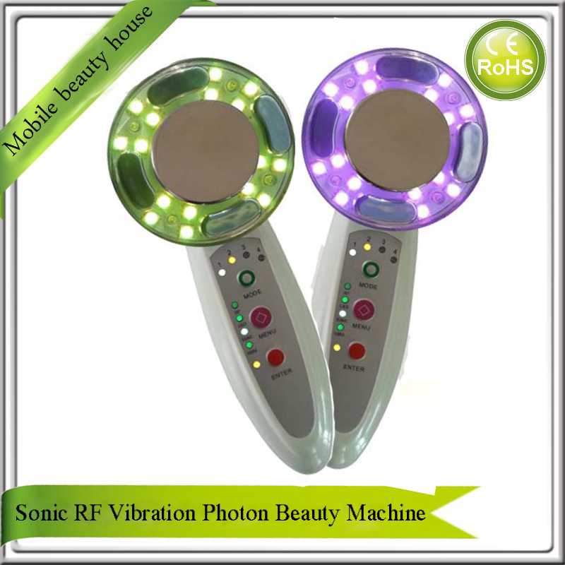 Sonic RF Vibration 7 Led Photon Rejuvenation Anti Aging Acne Wrinkle Remover Face lifting Skin Tightening Face Body Massager mini portable usb rechargeable ems rf radio frequency skin stimulation lifting tightening led photon rejuvenation beauty device