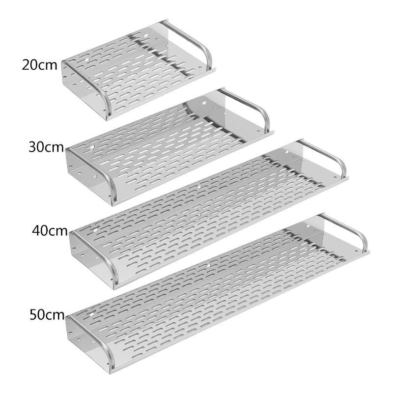 Stainless Steel Kitchen Bathroom Shelf Wall-mounted Storage Rack Single Layer 20cm-50cm 2016 top fashion real shelves for bathroom toothbrush holder stainless steel bathroom shelf wall mounted storage rack 50cm kf175