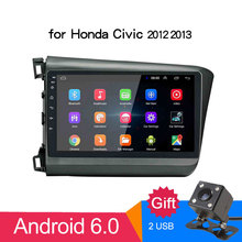 2 din Android 8.1 2G+16G Car Radio Stereo 9 Touch Screen 1024x600 GPS Bluetooth wifi USB AM/FM Player for Honda Civic 2012-2013 2 din android 2g 16g car dvd stereo universal gps wifi radio bluetooth quad core 7 1024 600 fm am swc remote control for nissan