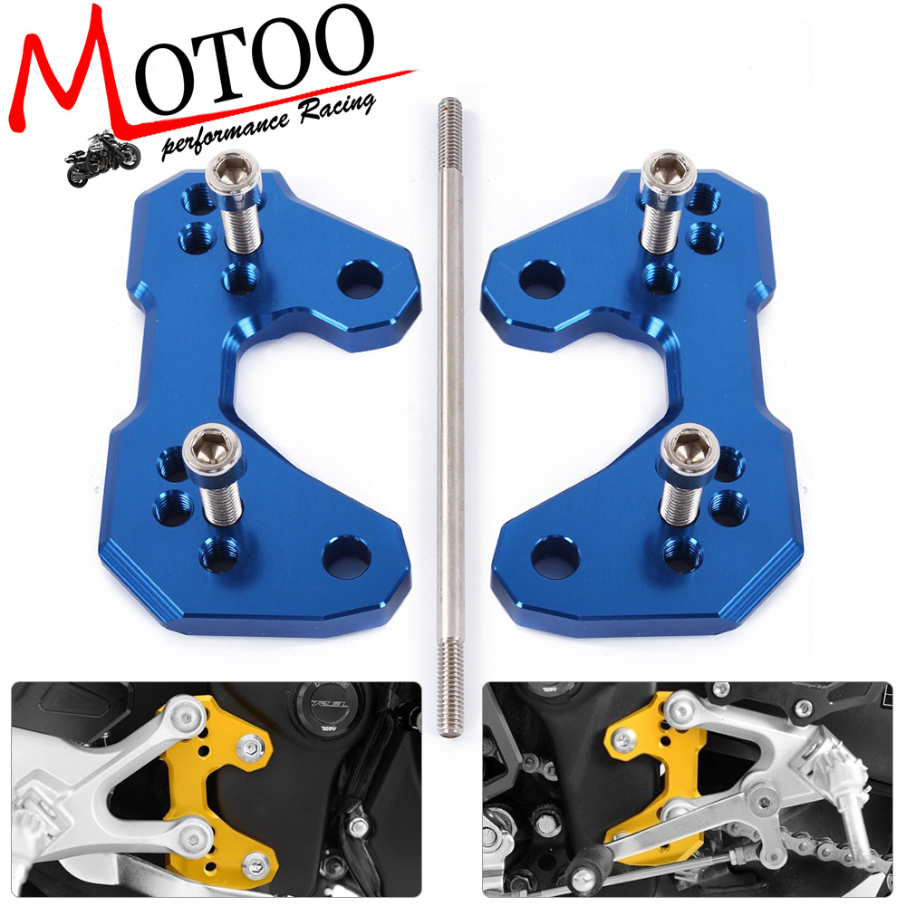 Motoo - NEW Rear set Motorcycle CNC Aluminum Rearset For Yamaha YZF R3 YZF R25 13-16  Base Mounting Plate motorcycle cnc aluminum mudguard rear fender bracket license plate holder light for yamaha yzf r25 r3 yzf r25 yzf r3