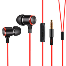 купить In-ear Wired Earphone For Mobile Phone Earphones 3.5mm In Ear Sport Micro Headset For iPhone Xiaomi With Mic 3M Extension cable дешево