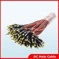 5 pcs 12 V DC Conector de Alimentação DC Power Pigtail Masculino Plugue do Cabo de Fio de 5.5*2.1mm Para CCTV Segurança câmera Frete Grátis