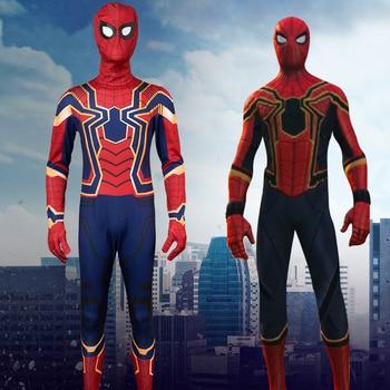 The Avengers Iron Spider-Man Cosplay Costume Peter Parker Jumpsuits Adult Halloween Costume Superhero Spiderman Bodysuit Suit