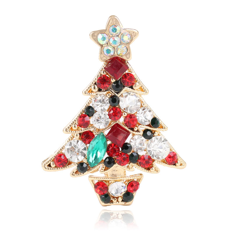 DuoHan Multicolor Crystals Rhinestone Brooch Women Jewelry Christmas ...