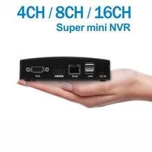 ENSTER Super Mini NVR 4CH 5MP, 8CH 4MP, 16CH 5MP Recorder/Decoder für Onvif IP Kamera, TF Karte/USB HDD/E SATA HDD Aufnahme