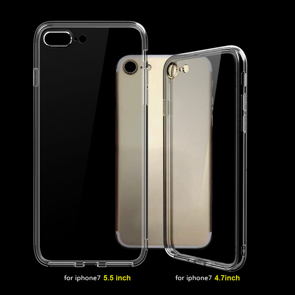 For Apple iPhone 7 Case Protect Camera Case For iPhone 6 Case Transparent Silicone Ultra Thin Cover For iPhone 6s 7 Plus
