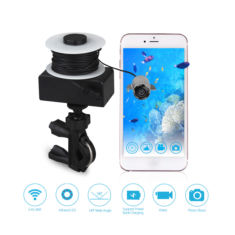 Eyoyo Portable Fish Finder WIFI Video Underwater Camera for Fishing IR LED Night Vision 20M Cable Fishfinder For IOS&Android