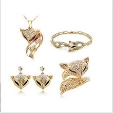 Модный комплект аксессуаров mohini fox, женское ожерелье/серьги/кольца/браслет mohini, красивый комплект ювелирных изделий с кристаллами