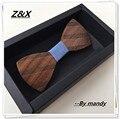 La nueva personalidad de la moda hecha a mano pura madera natural masculina de ocio de los hombres pajaritas Mariposa de madera de Diseño de madera ZXY0520