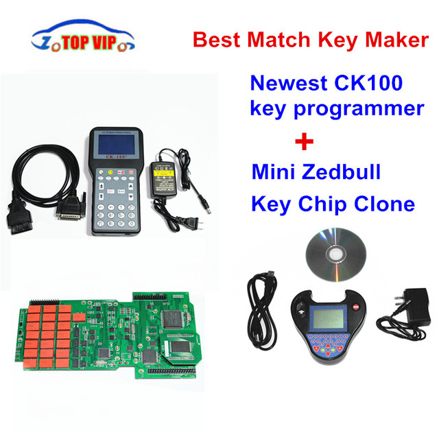 Special Offers 2018 Best Price Auto Key Programmer CK100 V99.99 + MINI ZedBull V508 Support Multi-Language No Tokens for Multi-Car Newest SBB