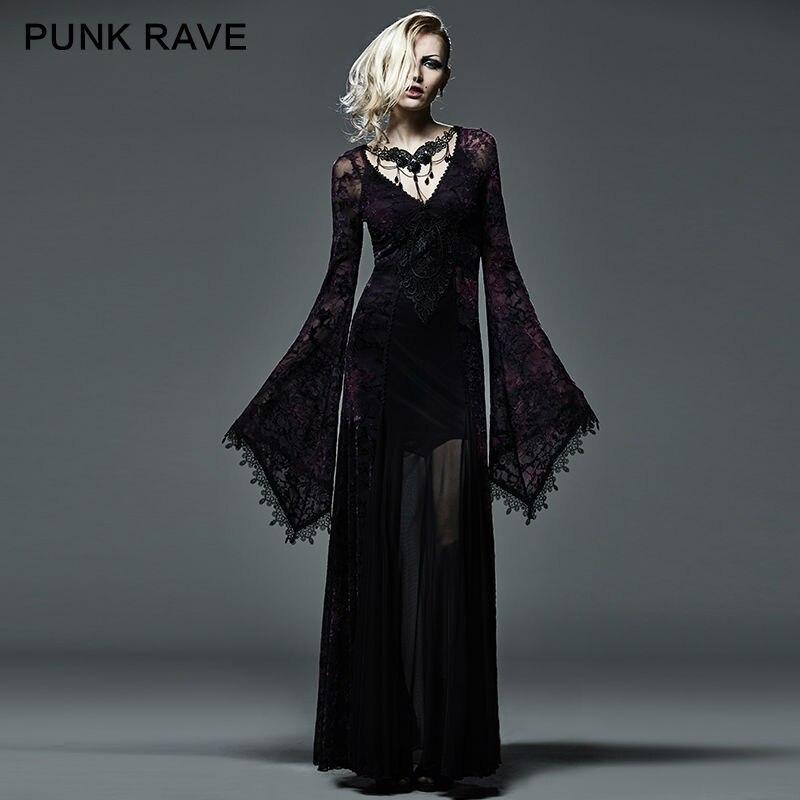 Nueva arwen largo maxi dress retro vampiro gótico victoriano lolita kera ropa q2