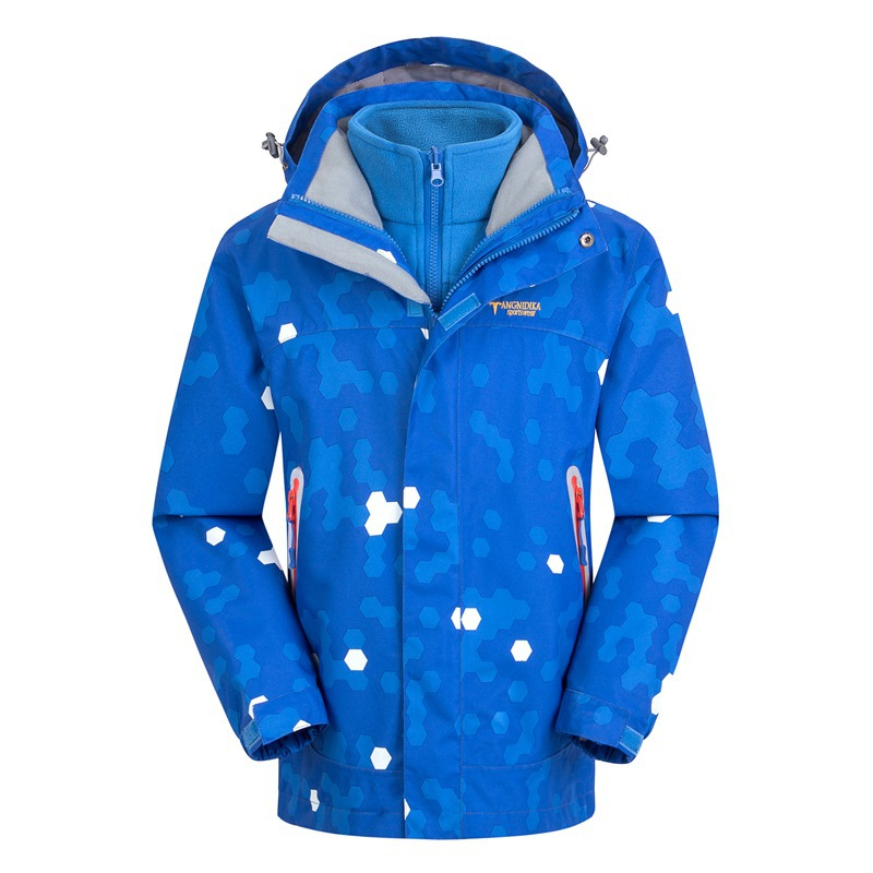 все цены на Waterproof Index 15000mm Windproof Boys Girls Jackets Warm Coat Children Outerwear Sporty Double-deck For 5-14 Years Old Winter онлайн