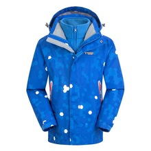 Waterproof Windproof Boys Girls Jackets Warm Coat Children Outerwear Sporty Kids Clothes Double-deck For 5-14T Winter and Autumn