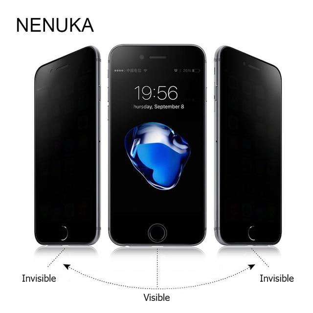 Конфиденциальности anti закаленное Стекло Экран протектор для iPhone 5 5S 5C SE 6 6 S 7 8 Plus X Премиум защитный кожух Плёнки для Apple