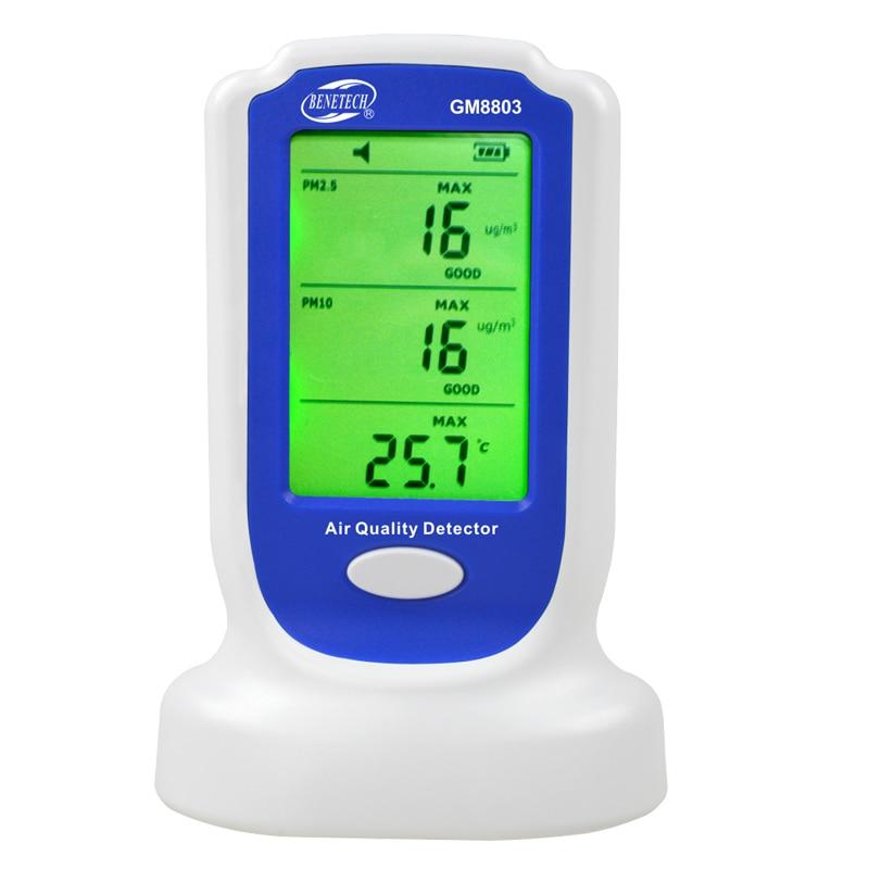 Air Qualité Détecteur GM8803 Numérique Analyseur De Gaz multimètre Rechargeable PM2.5 PM10 Air Qualité Moniteur Capteur pollution