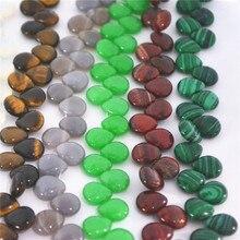 65 шт.! Новые модные бусины в форме капли воды из натурального камня с отверстием, малахит, опал, смешанные цвета, ювелирные изделия, 12*10,5*5 мм