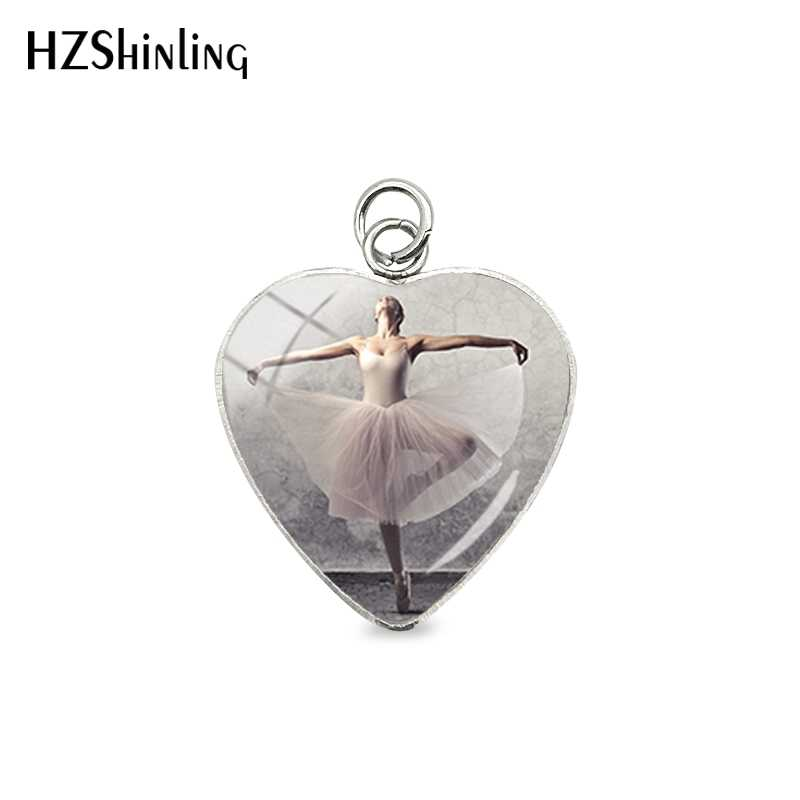 2019 New Arrival Ballerina Girl Heart Charms Cute Beauty Girl Ballerina Girl Flower Pendants Jewelry for Dance Lovers
