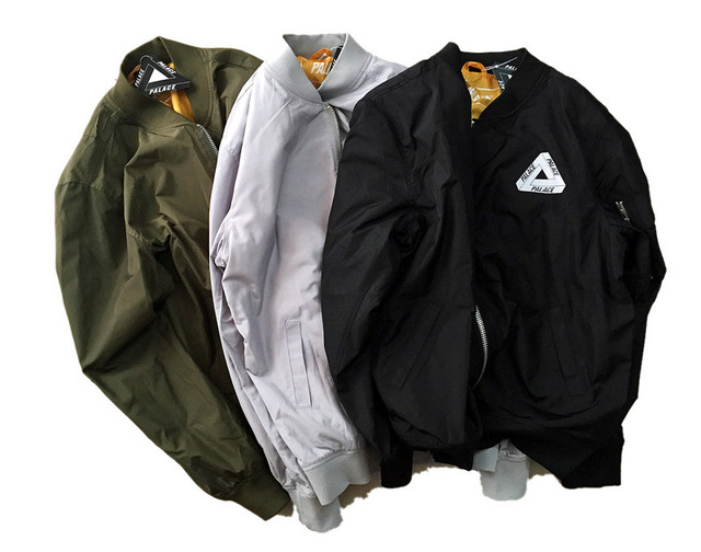 Palace Jacket Newest Camo Green Bomber Baseball Jacket Mens 2017 Womens Fashion Skateboards Thrasher Jackets And Coats S-XL