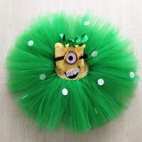 Prenses Tutu Çocuk Bebek Kız Doğum Günü Parti Tül Elbise Cosplay Minion Kostüm Kızlar Prenses Minion Tutu Elbise TT030K