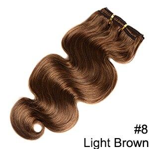Doreen заколки для волос в полный набор головы 160 г 200 г искусственные волосы одинаковой направленности настоящие натуральные человеческие волосы для наращивания зажим для волос - Color: #8