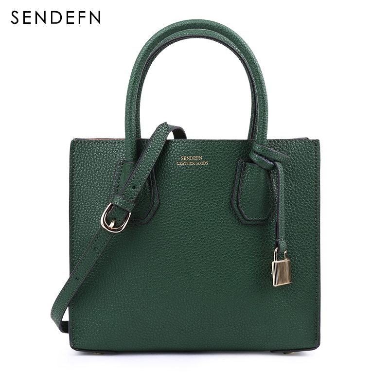 SENDEFN Classical Womens Shoulder Bag Quality Split Leather Handbag Zipper Women Bag Tote Women Leather Handbags ZD7048-5SENDEFN Classical Womens Shoulder Bag Quality Split Leather Handbag Zipper Women Bag Tote Women Leather Handbags ZD7048-5