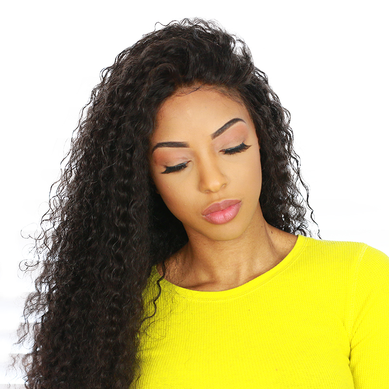 Lace Front Human Hair Wigs For Women Natural Black Brazilian Curly Lace Wig With Baby Hair 150% Density Remy Honey Queen