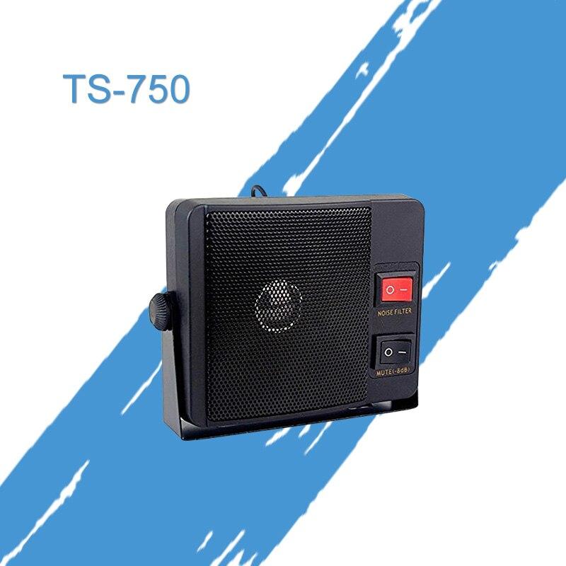 Free Shipping Walkie Talkie TS-750 Mobile Radio Mini External Microphone Mic Speaker For Two Way Radio Car Radio