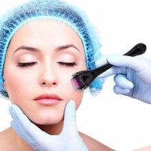 Rouleau pour la peau avec aiguilles en titane Mezoroller, appareil de soin de lépiderme, stylo de traitement perte de cheveux avec aiguilles 540/0.2/0.25mm, DRS 0.3