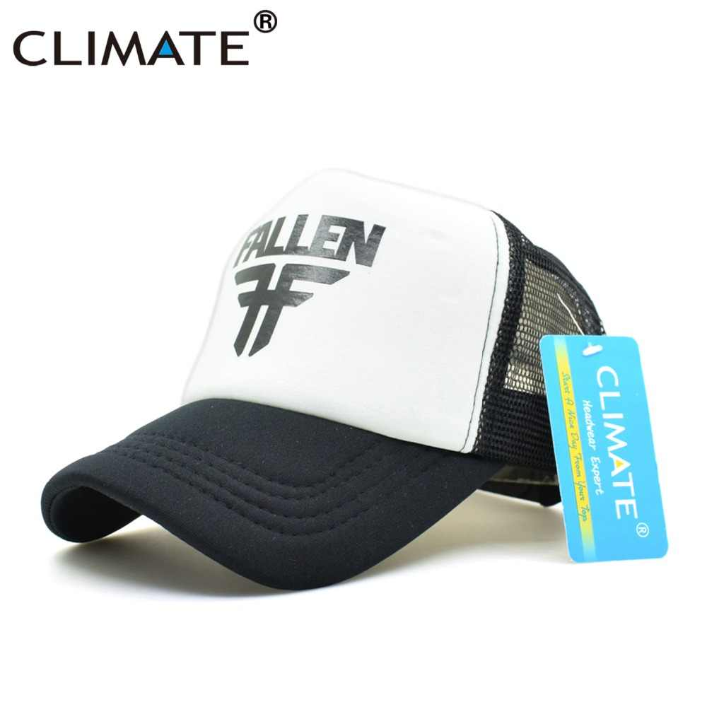 a7a9361ce9eebb ... CLIMATE Men Women Cool Trucker Caps FALLEN Skateboard Fans Mesh Caps  Cool Summer Baseball Mesh Net ...