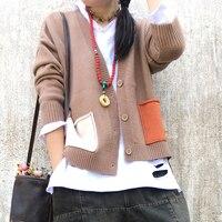 Back cartoon print knitting Cardigan sweater autumn winter 2108 mori girl