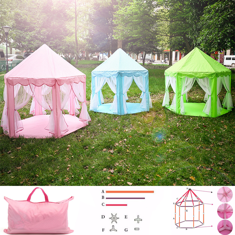 135cmx140cm Foldable Play Tent For Children Activity Fairy House kids Indoor Outdoor Playhouse Beach Tent Baby playing Toy Tent
