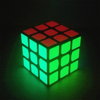 57mm Fluorescent Stickers Magic Toy Cube 3x3x3 Speed Cubo Magico Educational Toys For Children Kids Gift
