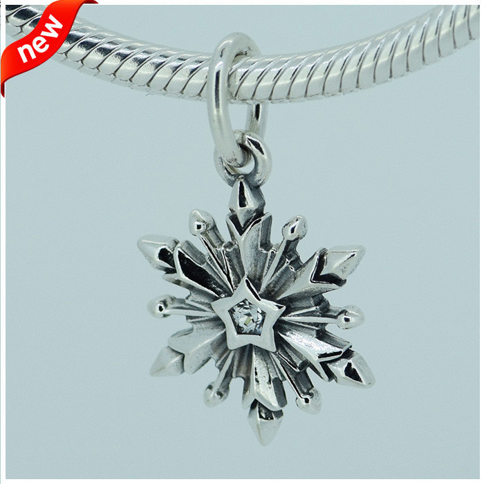 14cac1786 Fits Pandora Charms Bracelet DY Beads Frozen Snowflake Silver Dangle with CZ  100% Original 925 Sterling Silver Jewelry Wholesale