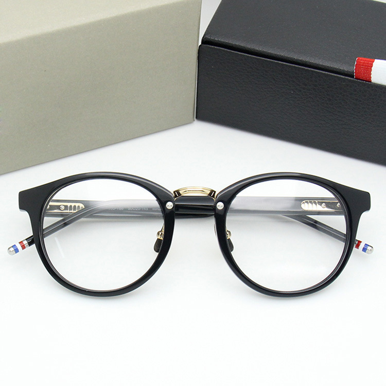 Thom Retro Round Optical Prescription Glasses Frame Men Women Acetate Eyeglasses with Original Box for Unisex