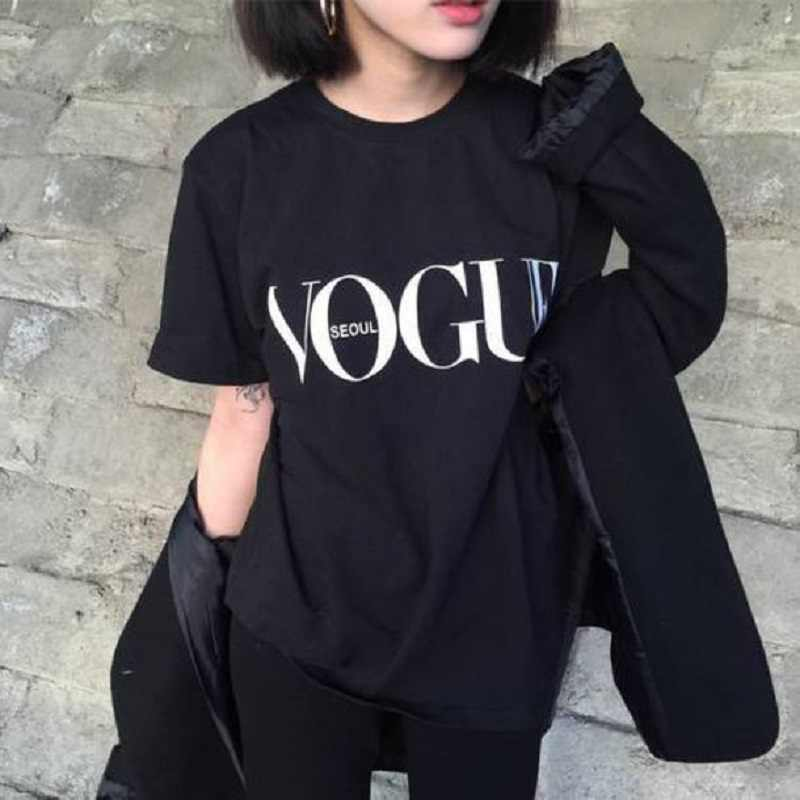 vogue t shirt women harajuku tee shirt femme tumblr ulzzang kawaii tshirt korean style women clothes 2019 summer camisetas mujer