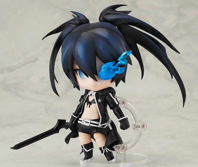 """Image 2 - Cute 4"""" 10cm Nendoroid Black Rock Shooter #246 TV Animation Ver. PVC Action Figure Model Collection Toy KT1989-in Action & Toy Figures from Toys & Hobbies"""