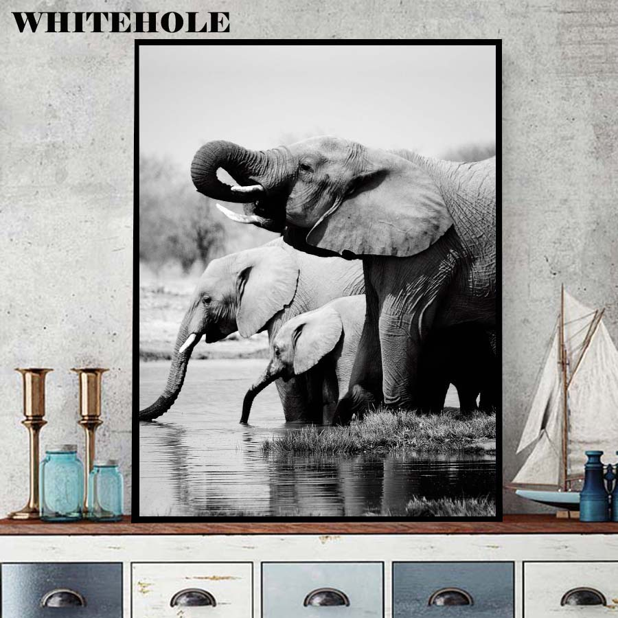 Posters And Prints Wall Art Canvas Painting Modern African Animal Elephant Posters Wall Art Pictures For Living Room Home Decor Painting Calligraphy Aliexpress