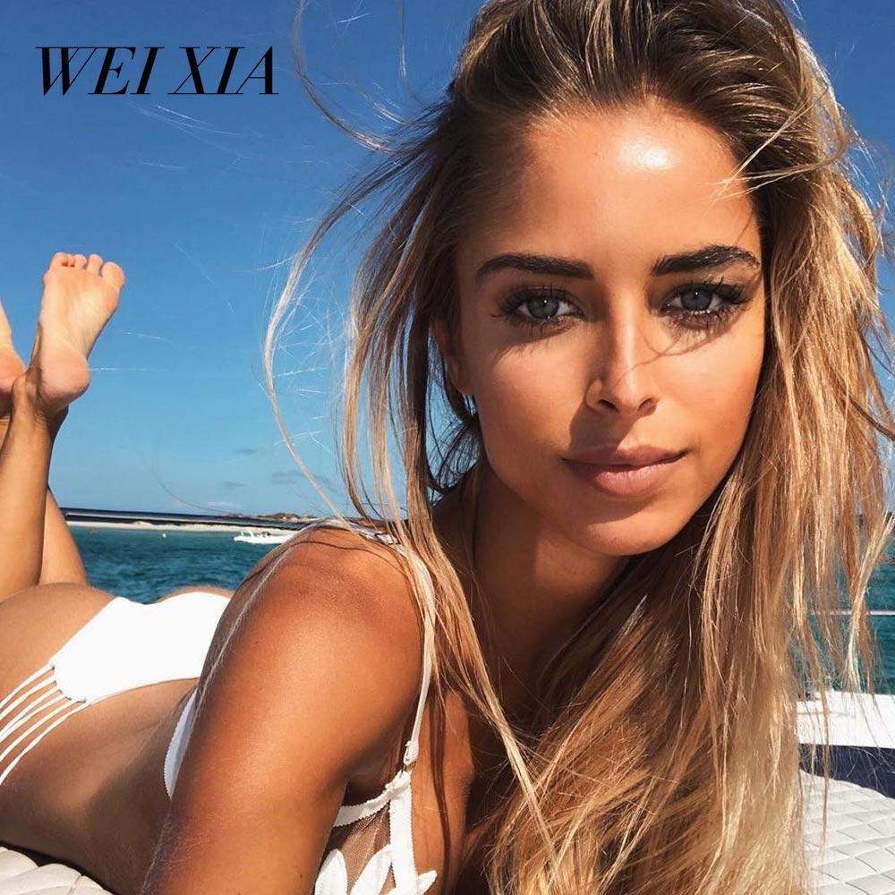 WEIXIA 2018 NEW Arrival Beautiful Show Women Bikini 9038 Swimwear Swimsuit Brazilian Beach Wear