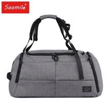c6ef60364b24 35L Men 2 in 1 Travel Bags New big Capacity Duffle Bag 2018 brand Fashion  hand